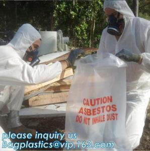 Quality BIOHAZARD AUTOCLAVABLE,ASBESTOS, MEDICAL WASTE DISPOSAL SACKS, PATIENT BELONGING,SPECIMEN SAMPLING B wholesale