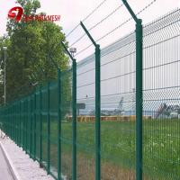 China green colored curved wire mesh fence panel on sale