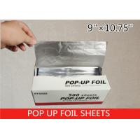 Quality Non Stick Pop Up Aluminum Foil Sheets , Pre Cut Aluminum Foil 14 Micron Thickness wholesale