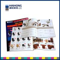 China Customized Two staples saddle stitched brochure printing / advertisement booklet on sale