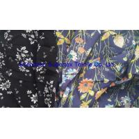 Quality Soft Rayon Lawn Fabric With All Over Reactive White Floral Print On Semi Bleached Background wholesale