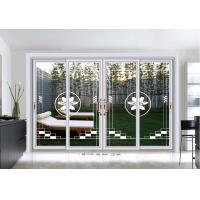 Quality 5mm Commercial Aluminium Sliding Door Exterior Clear Tempered Art Glass wholesale