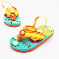 Quality Outdoor Boys Flip Flops Sandals Fabric Upper Material Elastic Back Strap wholesale