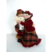 Quality Customized 8Inch Toddler Electronic Toys of Dancing Santa Claus Couples for Chritmas Decor wholesale