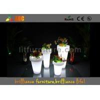China Remote control LED lighting planter / LED Flower Pot with lithium battery on sale
