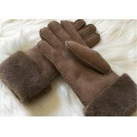 Quality Bowie shearling-lined suede leather gloves double face fur lined leather gloves wholesale