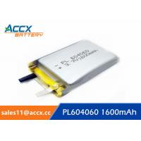 Quality li batteries PL 604060 3.7V 1600mAh lipo battery for led, power bank wholesale