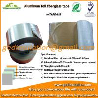 China Widely use Aluminum foil coated fiberglass cloth insulation tape on sale