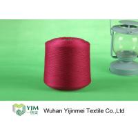 Quality Red / White / Yellow Z Twist Polyester Dyed Yarn For Virgin Sewing Thread wholesale