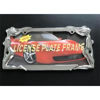 Quality Zinc Alloy Material Car License Plate Frame / Metal Plate Frame Sexy Women Style wholesale