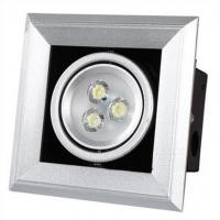 Quality Brightness 3W Led Grille Spotlight 4500K IP44 / AC 220 Volt Led Spotlight wholesale