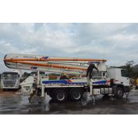 China Used Concrete Pump Truck Zoomlion 37m Trailer Mounted Concrete Boom Pump on sale