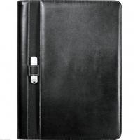 Quality Leeds Executive Stratford UltraHyde Black Zippered Padfolio / Writing Pad wholesale