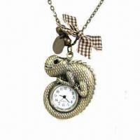 Quality Lizard Pocket Watch, Made of Zinc-alloy and Iron Metals Materials wholesale