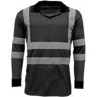 Quality Reflective Strips Mens Hi Viz T Shirts Workwear , Dry Fit 2 Tone Guys Polo Shirts wholesale
