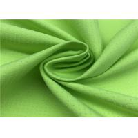Quality Comfortableful 100% P Breathable Outdoor Fabric , Green Water Resistant Fabric wholesale