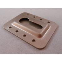 China Chromate Plated Custom Metal Stampings , Sheet Metal Press Parts OEM Services on sale