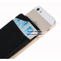 China NEW mini pocket wallet sticky 3M Lycra Smart Wallet with factory price,Size 88*57*3MM black color on sale
