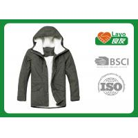 China Grey Color Warm Padded Jacket , Down Winter Jackets For Women on sale