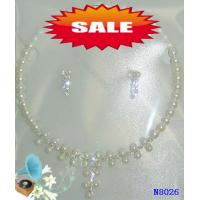 Quality Rhinestone Casting Scarf Jewelry Beaded Pearl Necklace for Anniversary 18g wholesale