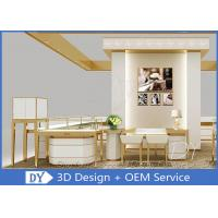 Quality Commercial Lockable Jewelry Glass Display Cabinet For Showroom 550 X 550 X 1300MM wholesale