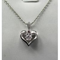 China Love Heart 18K White Gold Diamond Necklace Aphrodite Stamp KGS0102P on sale