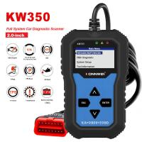 China Full system KONNWEI KW350 car diagnostic scanner apply for Engine auto air condition HVAC Center lock on sale