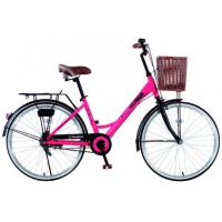 Quality 26 size elegant city bike for lady with Shimano Nexus 3 inner speed with front basket wholesale