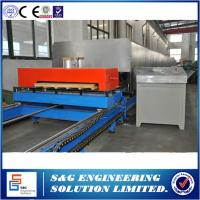 China Roof Polyurethane Sandwich Panel Making Line with Thickness 0.4 - 0.7 mm,Rubber belt PU Sandwich Panel Production line on sale