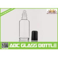 Cheap Wholesale White 30ml Roll On Glass Bottle With Roller, Bottle Roll-on, Clear for sale