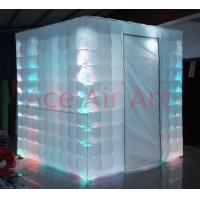 Buy cheap ace air art oxford fabric led lighting inflatable photo booth withdoor curtain from wholesalers
