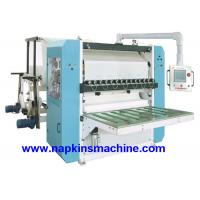Quality Interleaved Fold Facial Tissue Machine With Two Color Printing / Tissue Folding Machine wholesale