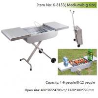 Quality trolly charcoal barbecue grill wholesale