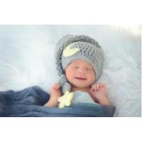 Quality Baby Photography Prop Crochet Knit Boy Star Moon Infant Hat wholesale