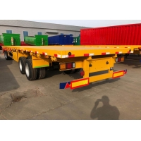 Buy cheap SINOTRUK Mn Steel 3 Axles Flatbed Cargo Full Trailer from wholesalers