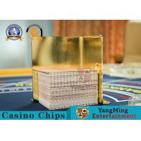 Thick Stainless Steel Gold - Plated Playing Cards Waste Card Racks , Placing Cards