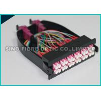Quality 12 Multimode Fiber Optic Cassette OM4 MPO - LC Module Pink Adapter wholesale
