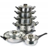 Quality 12PCS Stainless Steel Pot and Pan Set With Bakelite Handle wholesale
