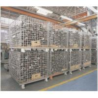 "Quality Heavy Weight Foldable Collapsible Wire Containers W47"" X D39"" X H35"" In Zinc plate Finishes wholesale"
