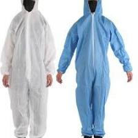 China Economical Disposable Protective Clothing Non Woven Long Sleeve Coveralls on sale