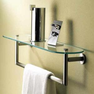 Quality decorative bathroom accessories double towel bar wholesale
