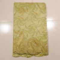 China Gold Embroidered Lace Fabric For Wedding Dress , Garment on sale