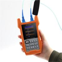 China Multi Function Fiber Optic Cable Light Tester AOF500 With SC / PC Connector on sale
