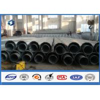 Dodecagonal Galvanized Electrical Power Transmission Pole 20M Height ISO9001:2008
