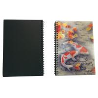 Quality Wires Colored 80 Pages A5 3D Plastic Cover Notebooks For School Use wholesale