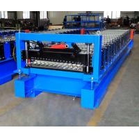 Quality Corrugated Steel Panel Roll Forming Machine , Steel Frame Roll Former 12-18m/Min wholesale