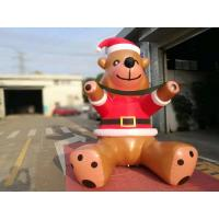 Quality Customized PVC Printing Inflatable Christmas Decorations Bear Catoon For Commercial Show wholesale