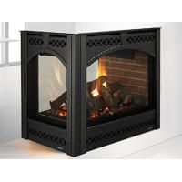 Quality Contemporary Three Sided Gas Fireplace Direct Vent With Special Corner Design wholesale