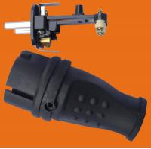 Quality 2P+E 16A 250V~TPE rubber Black EU Germany standard Industrial power plug(P6051) wholesale