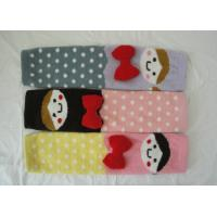 Quality Cartoon Kids Cashmere Knitted Leg Warmers , Dots Pattern For Girls wholesale